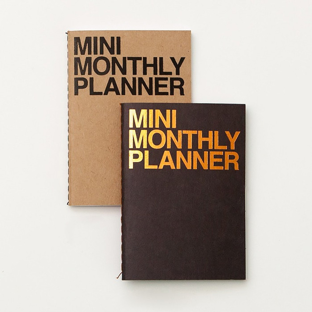 Mini 16 months undated monthly planner