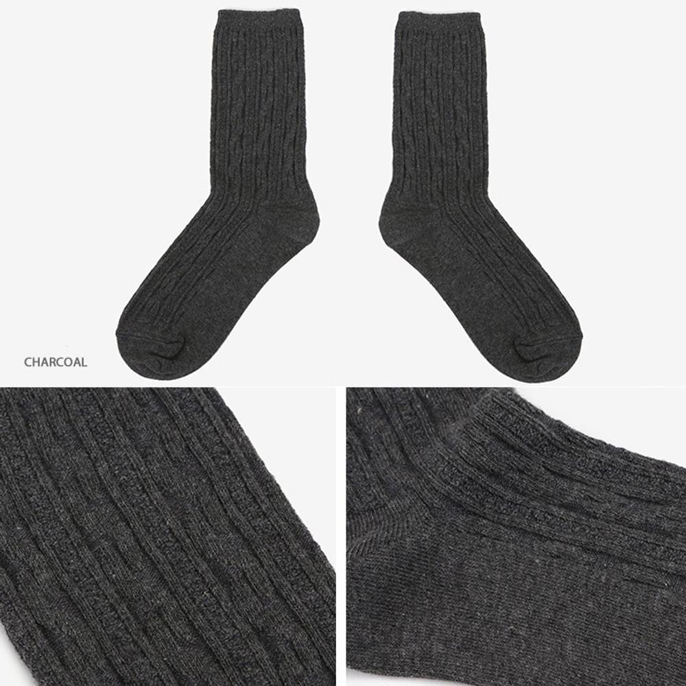 Charcoal - Dailylike Comfortable yours for life lycra twist women socks