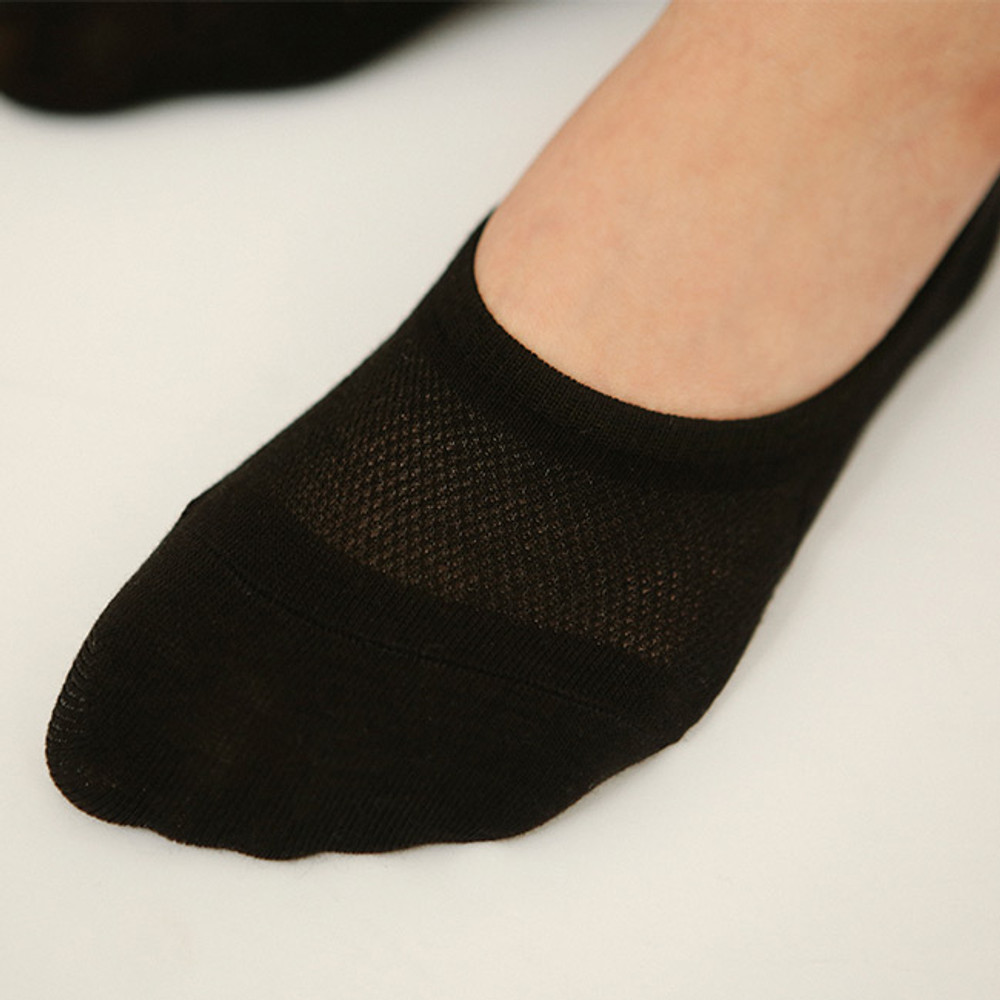 Black - Dailylike Comfortable yours for life women no show socks set