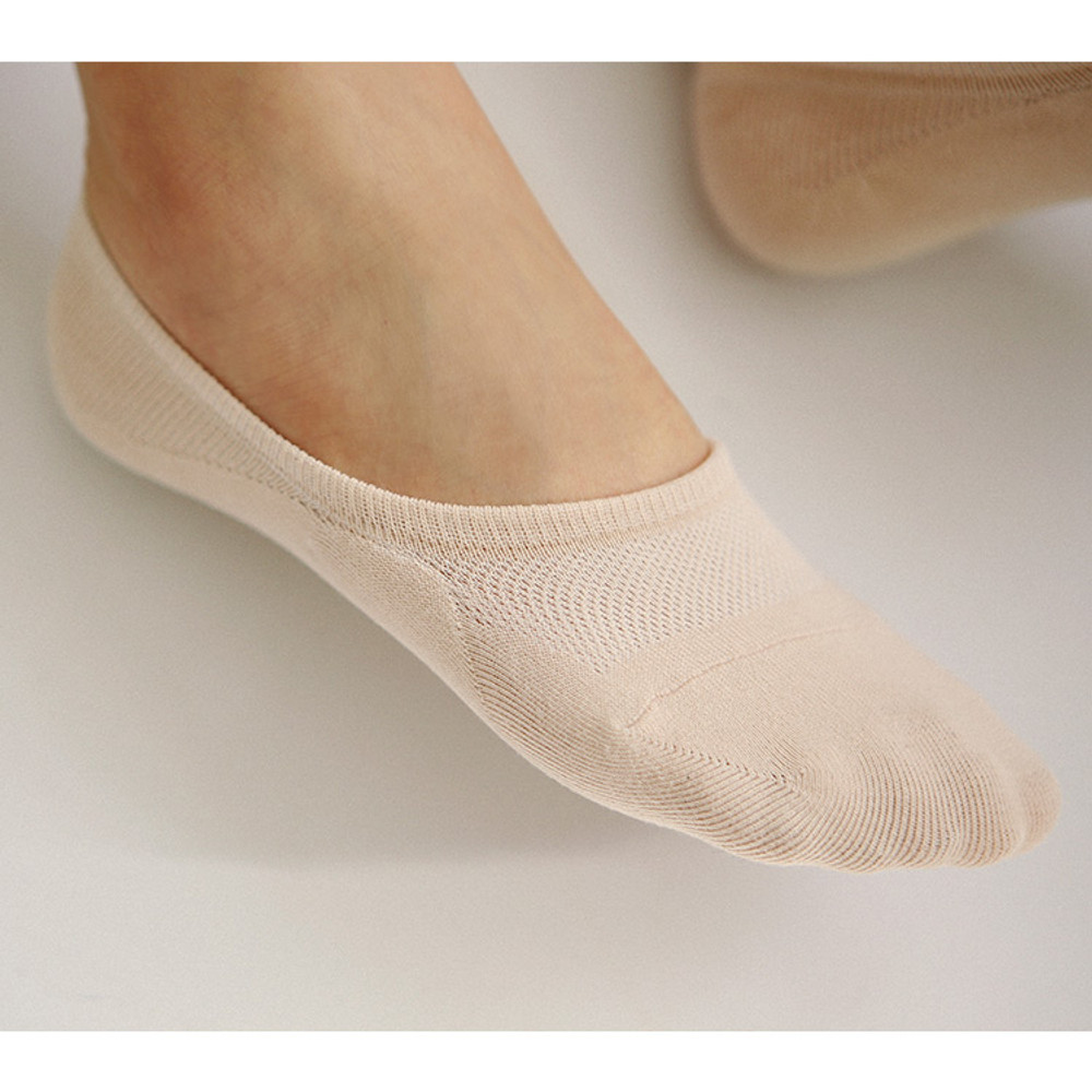 Beige - Dailylike Comfortable yours for life women no show socks set