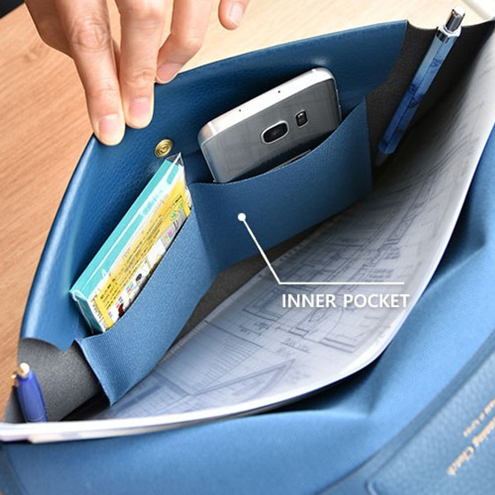 2 inner pockets - Play obje Extra opening of new days file bag clutch pouch