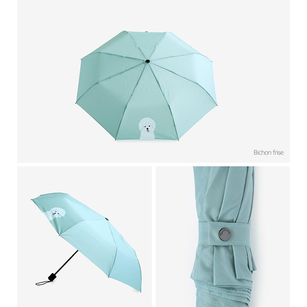 Bichon frise - Enjoy your life foldable pattern umbrella
