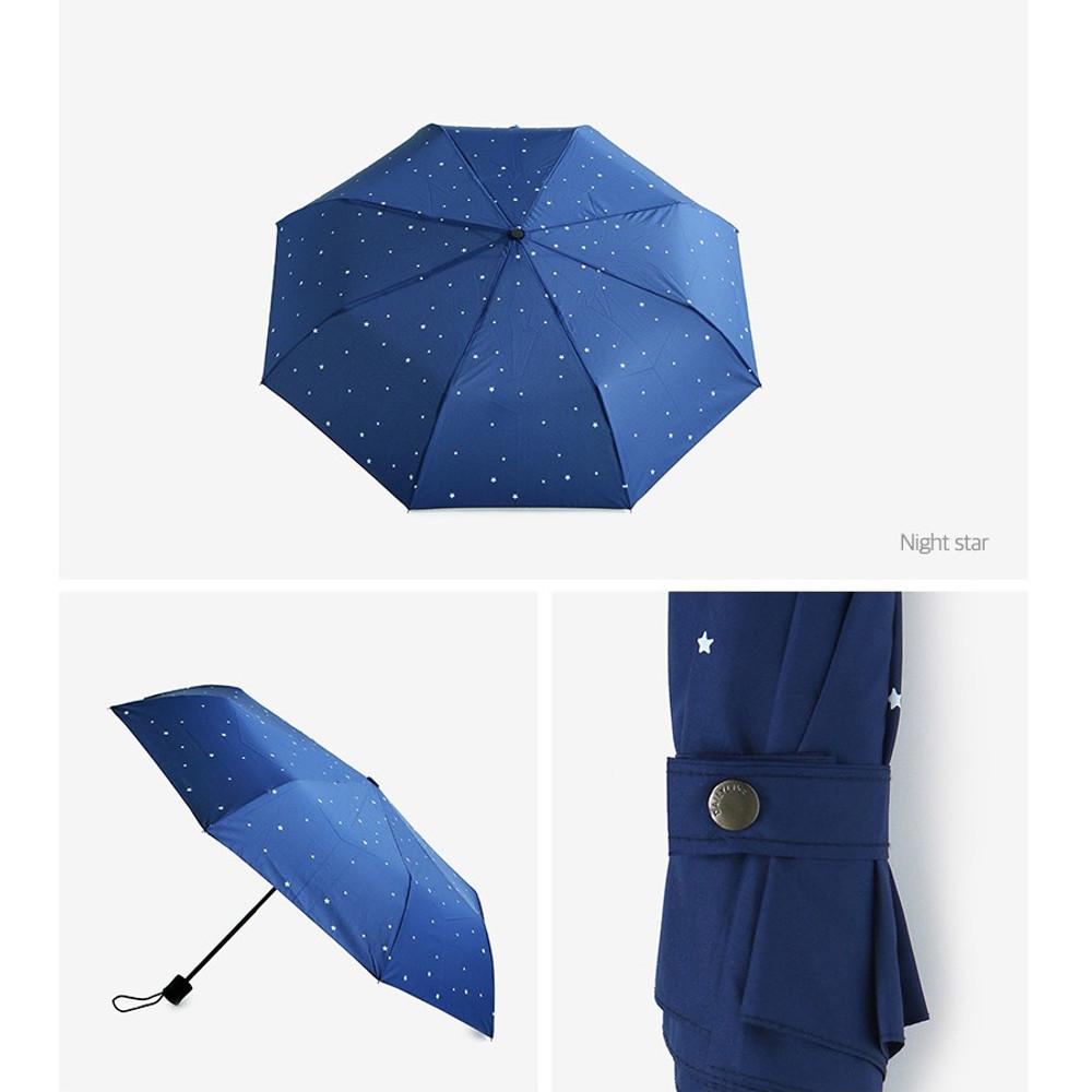 Night star - Enjoy your life foldable pattern umbrella
