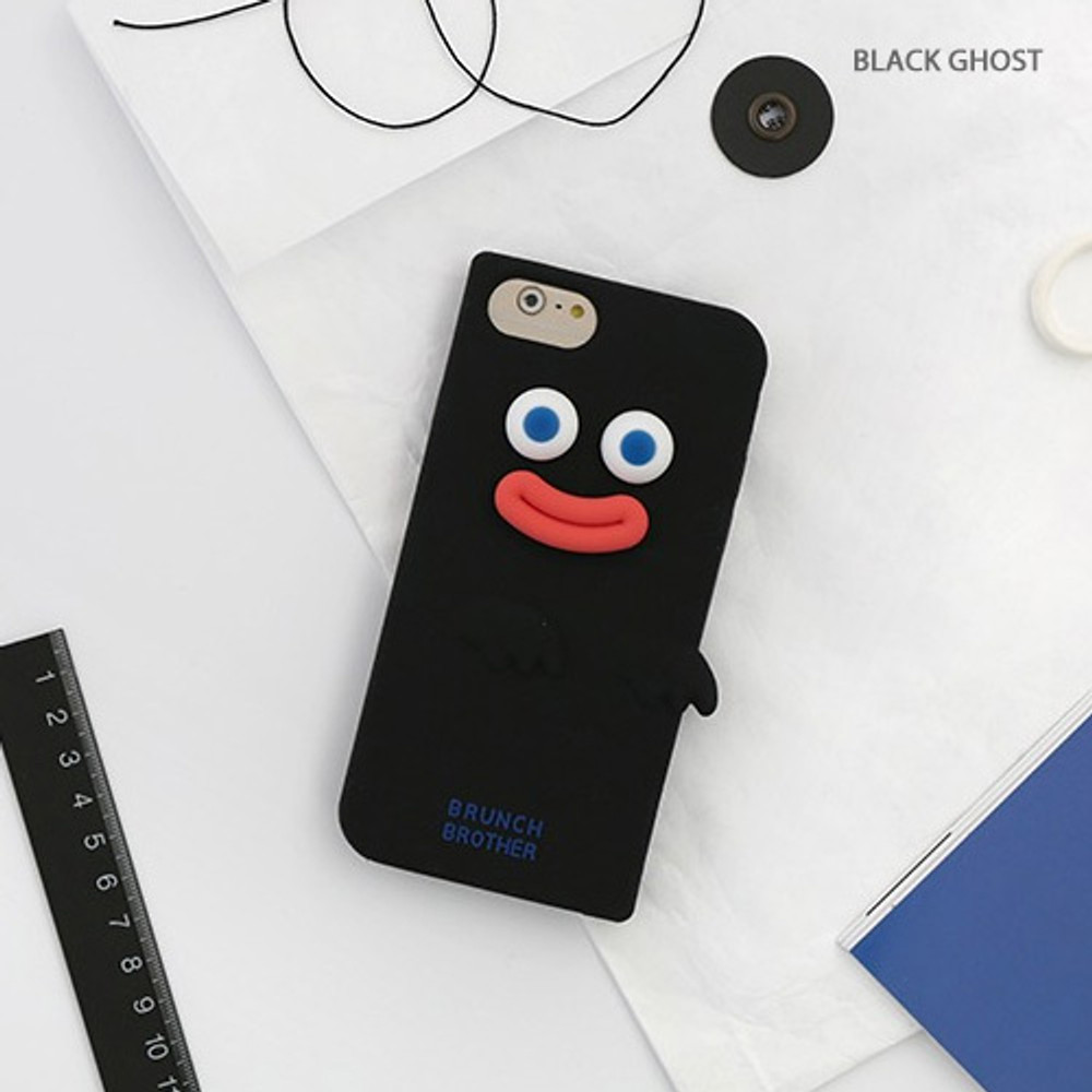 Black ghost - ROMANE Brunch brother silicone case for iPhone 8 7 6S 6 ver2