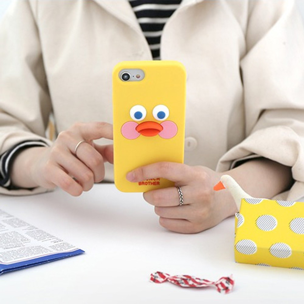 Yellow -  ROMANE Brunch brother silicone case for iPhone 8 7 6S 6 ver2