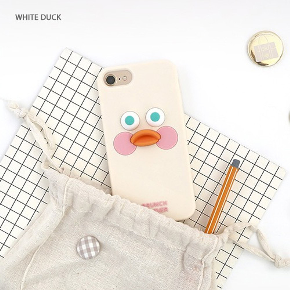White duck -  ROMANE Brunch brother silicone case for iPhone 8 7 6S 6 ver2