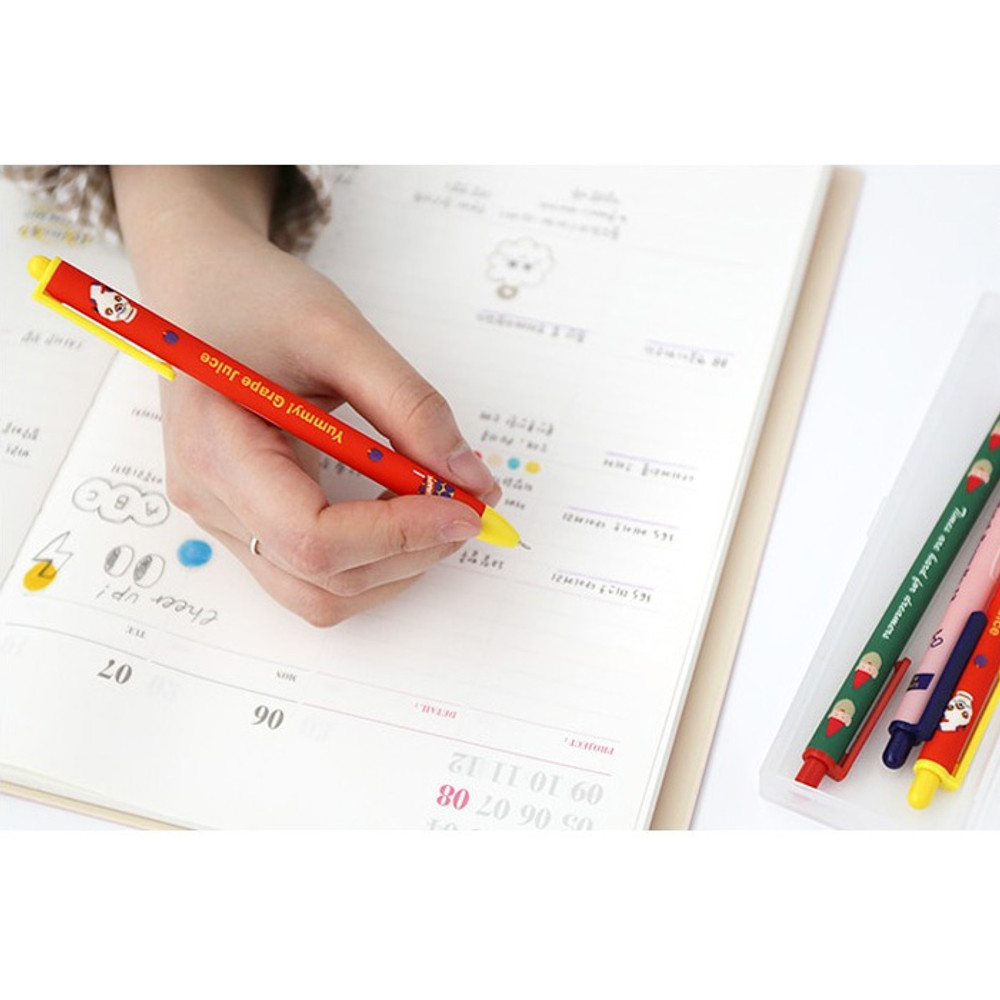 Movie series - ROMANE Print black knock retractable ballpoint pen 0.38mm