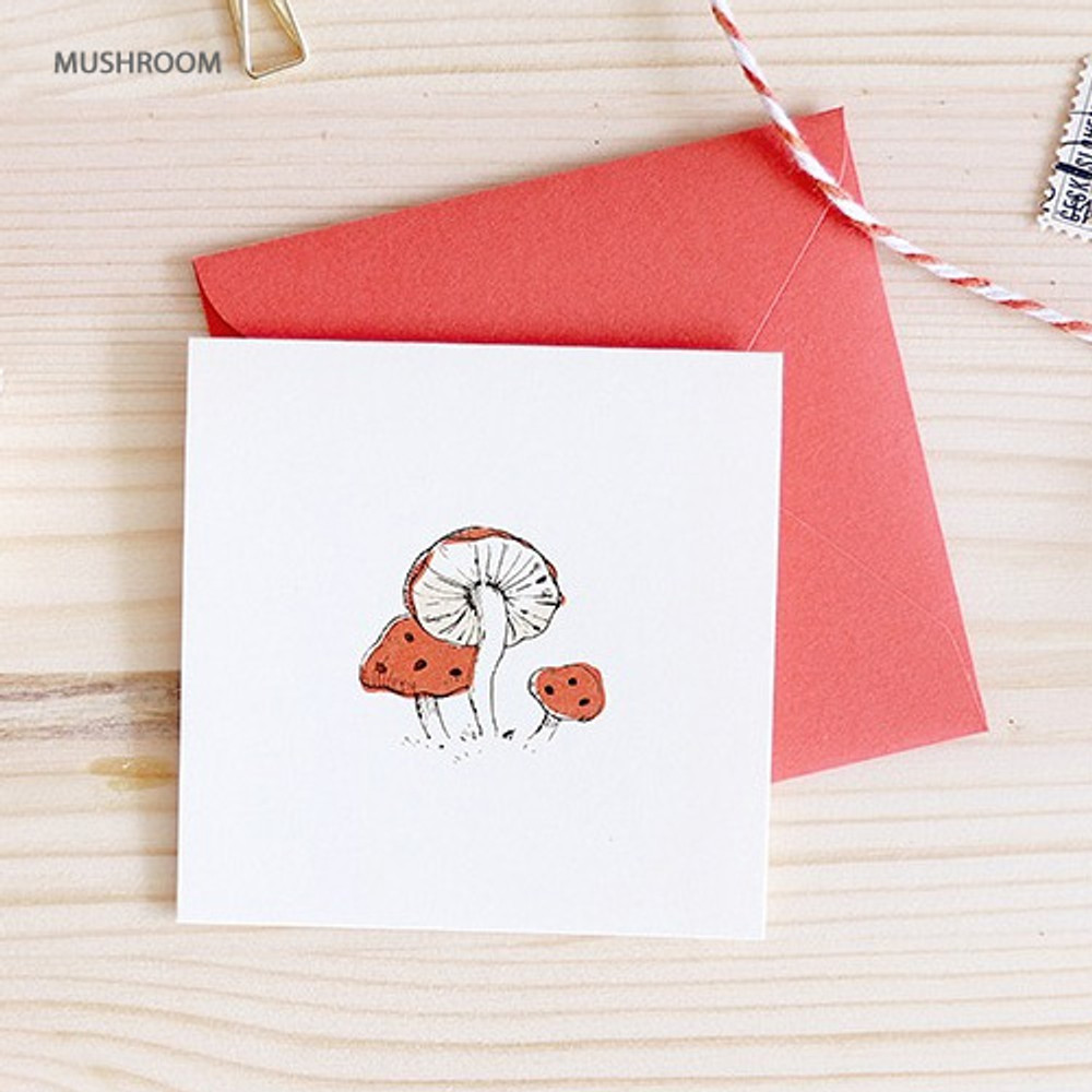Mushroom - From the forest mini card with envelope