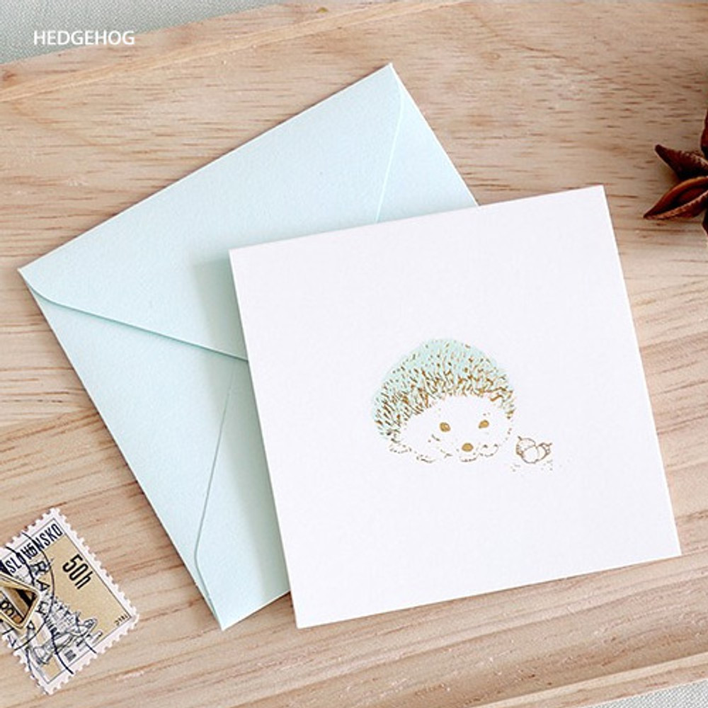 hedgehog - From the forest mini card with envelope