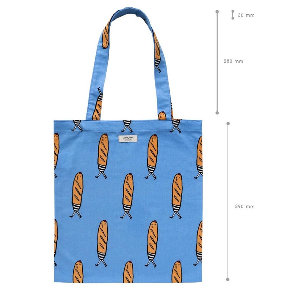 Size - Livework Jam Jam pattern daily shoulder tote bag ver2