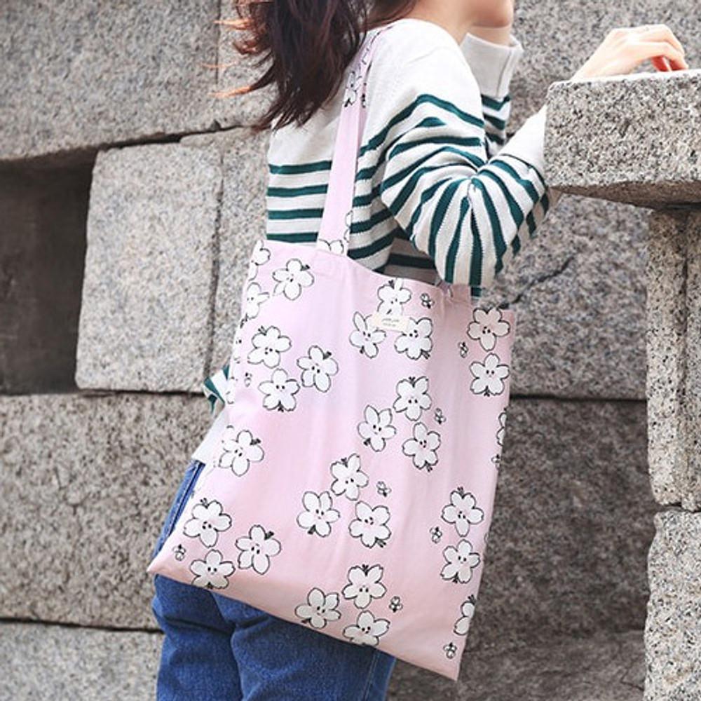Blossom - Livework Jam Jam pattern daily shoulder tote bag ver2