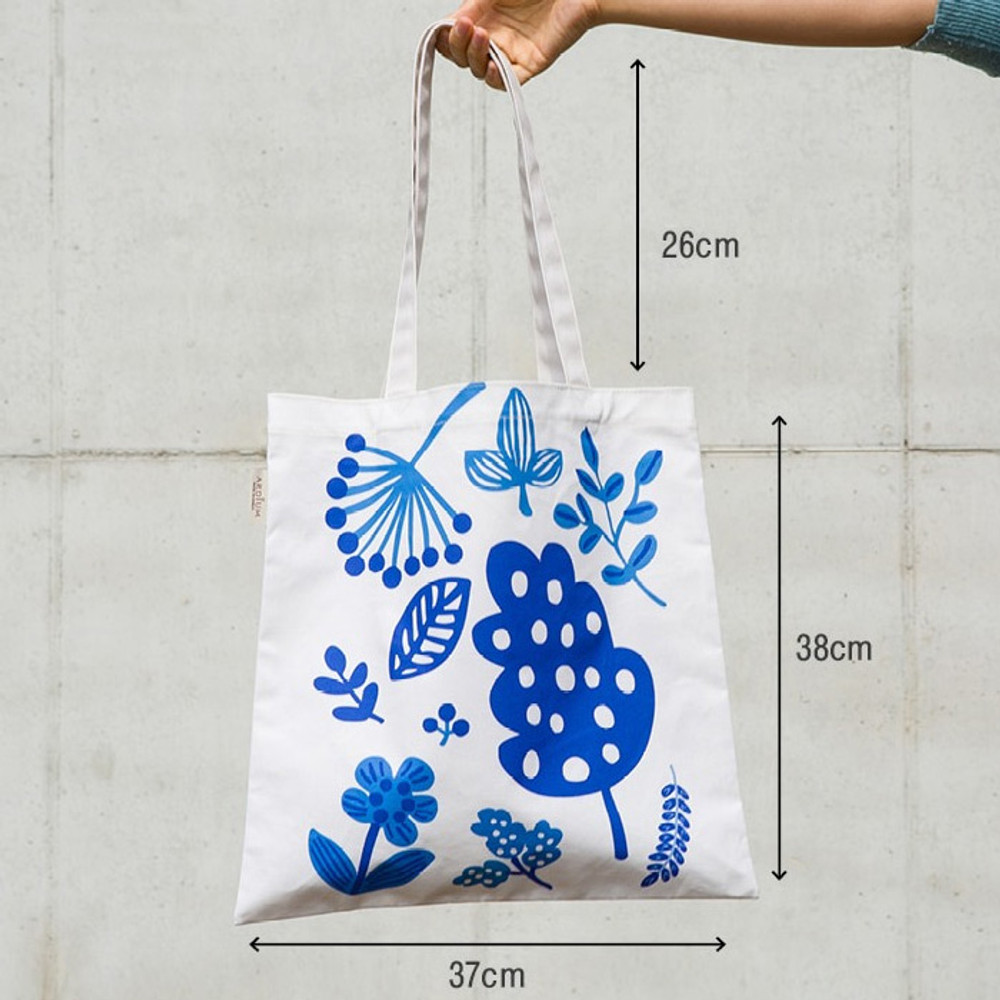 Size of Colorful cotton canvas tote bag