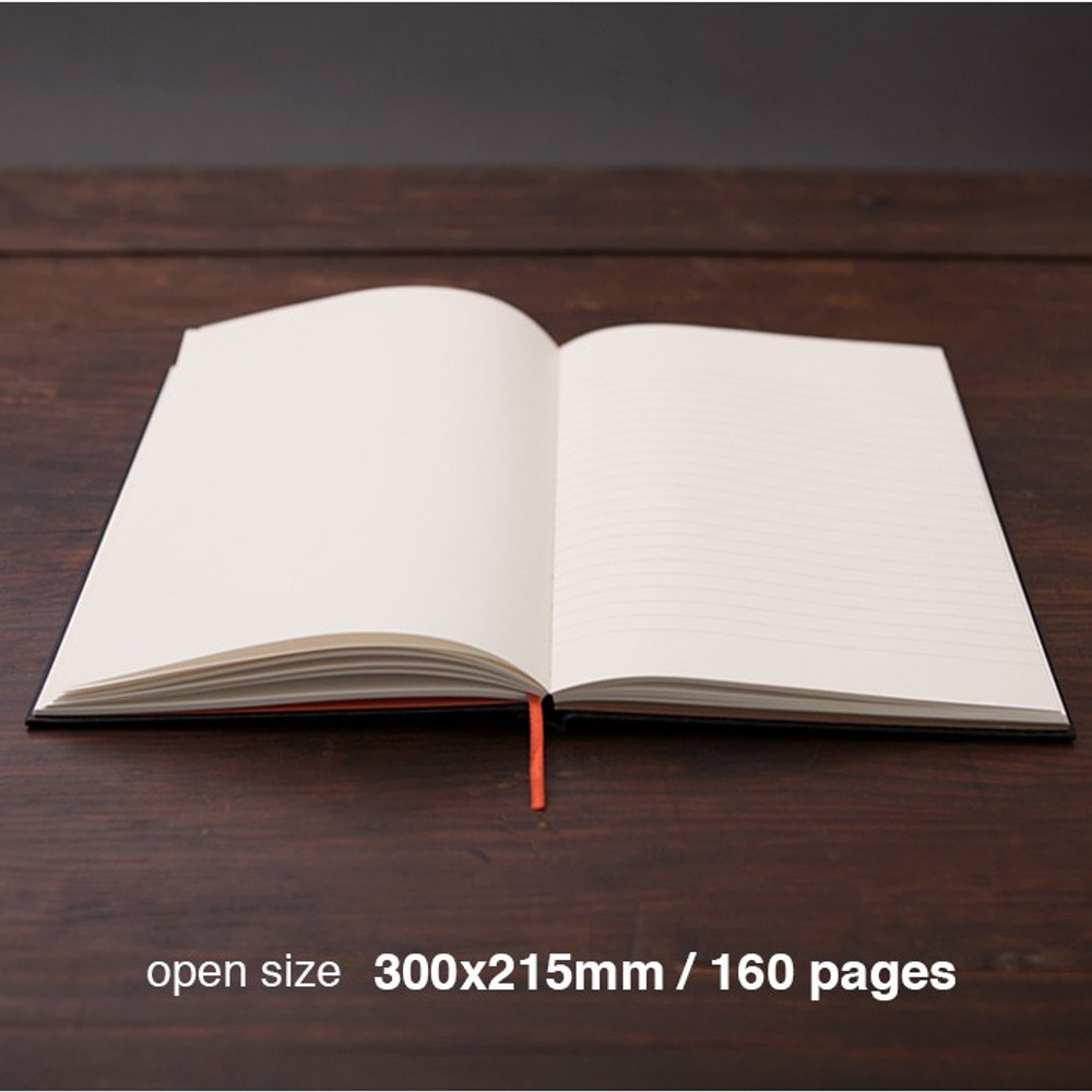 Writer hardcover plain and lined notebook