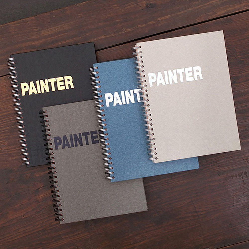 Painter spiral drawing notebook