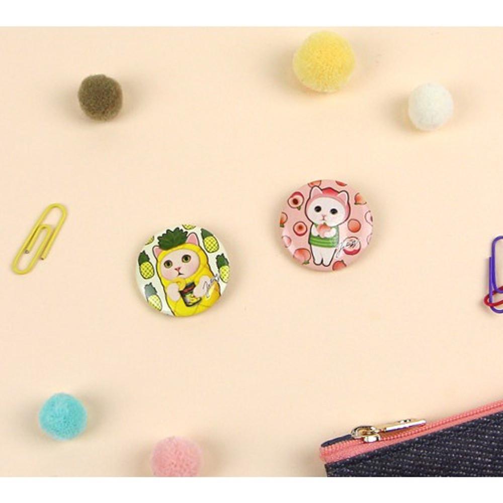 Jetoy Choo Choo cat deco small circle badge