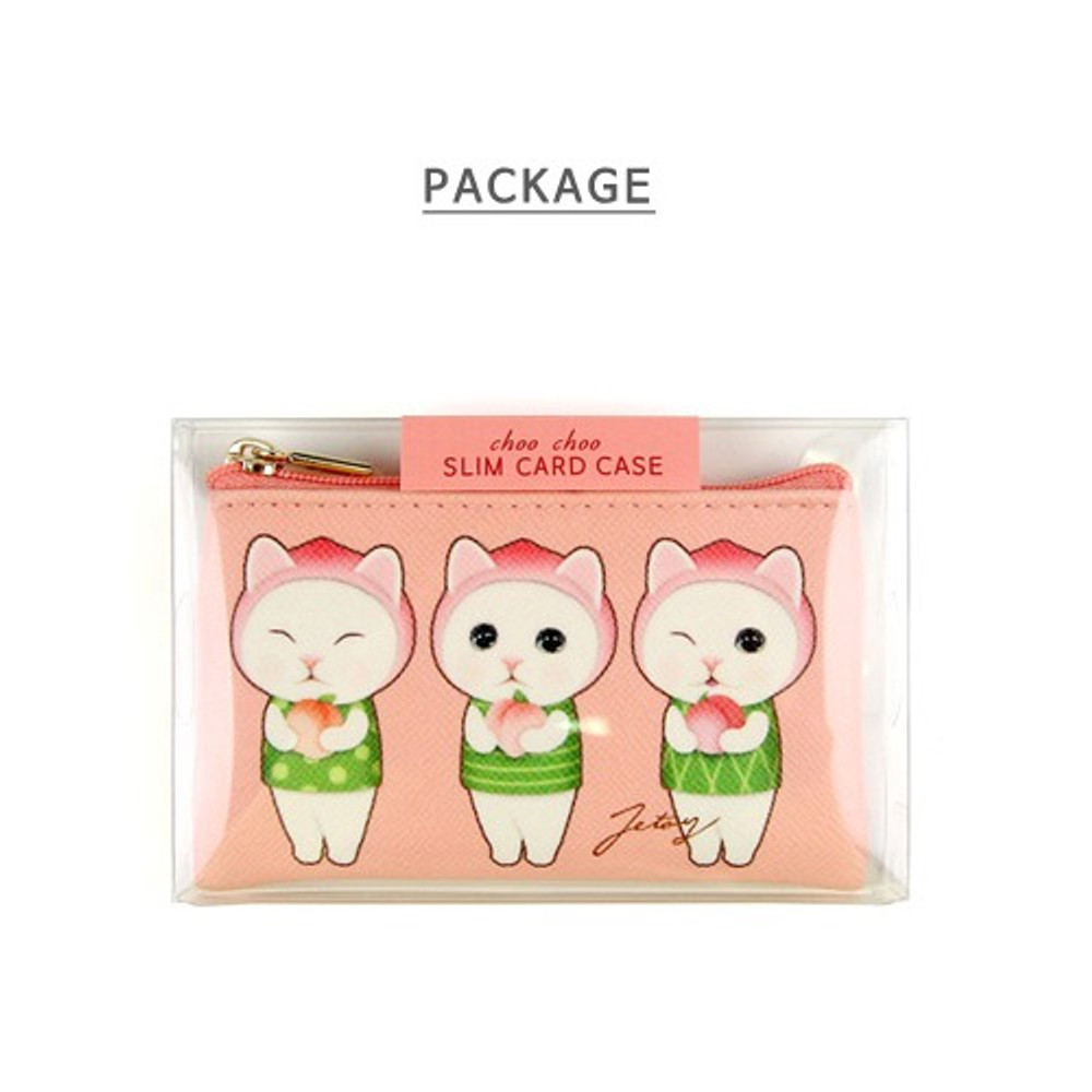 Package - Jetoy Choo Choo cat flat zipper card case
