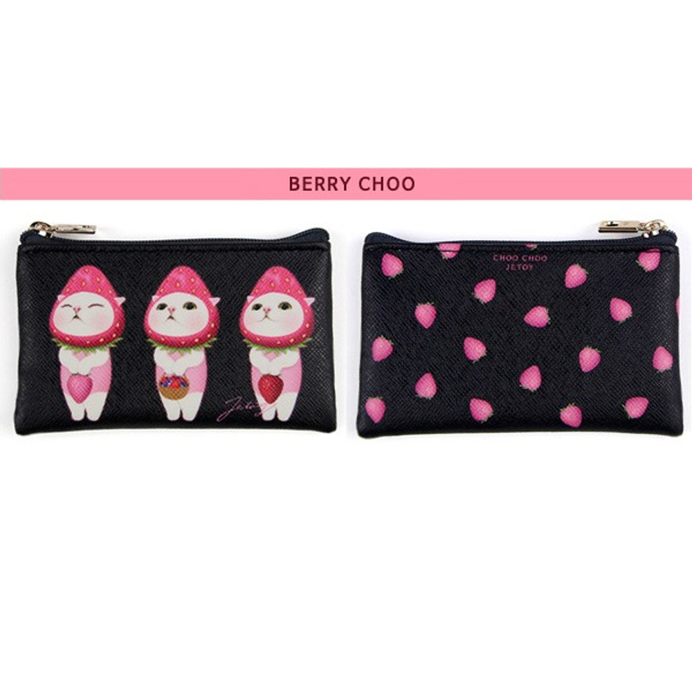 Berry choo - Jetoy Choo Choo cat flat zipper card case