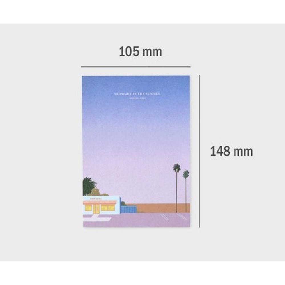 Size - Iconic Lagom illustration memo notepad