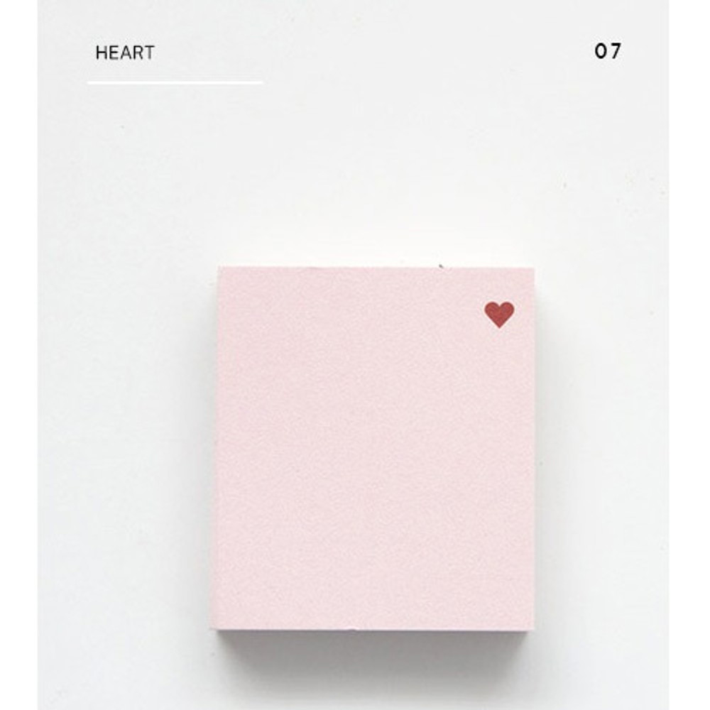 Heart - The memo index it small sticky notepad