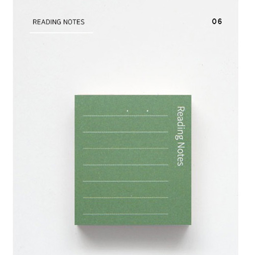 Reading notes - The memo index it small sticky notepad