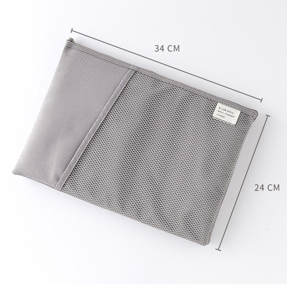 Size - Livework A low hill basic mesh pocket file pouch ver2