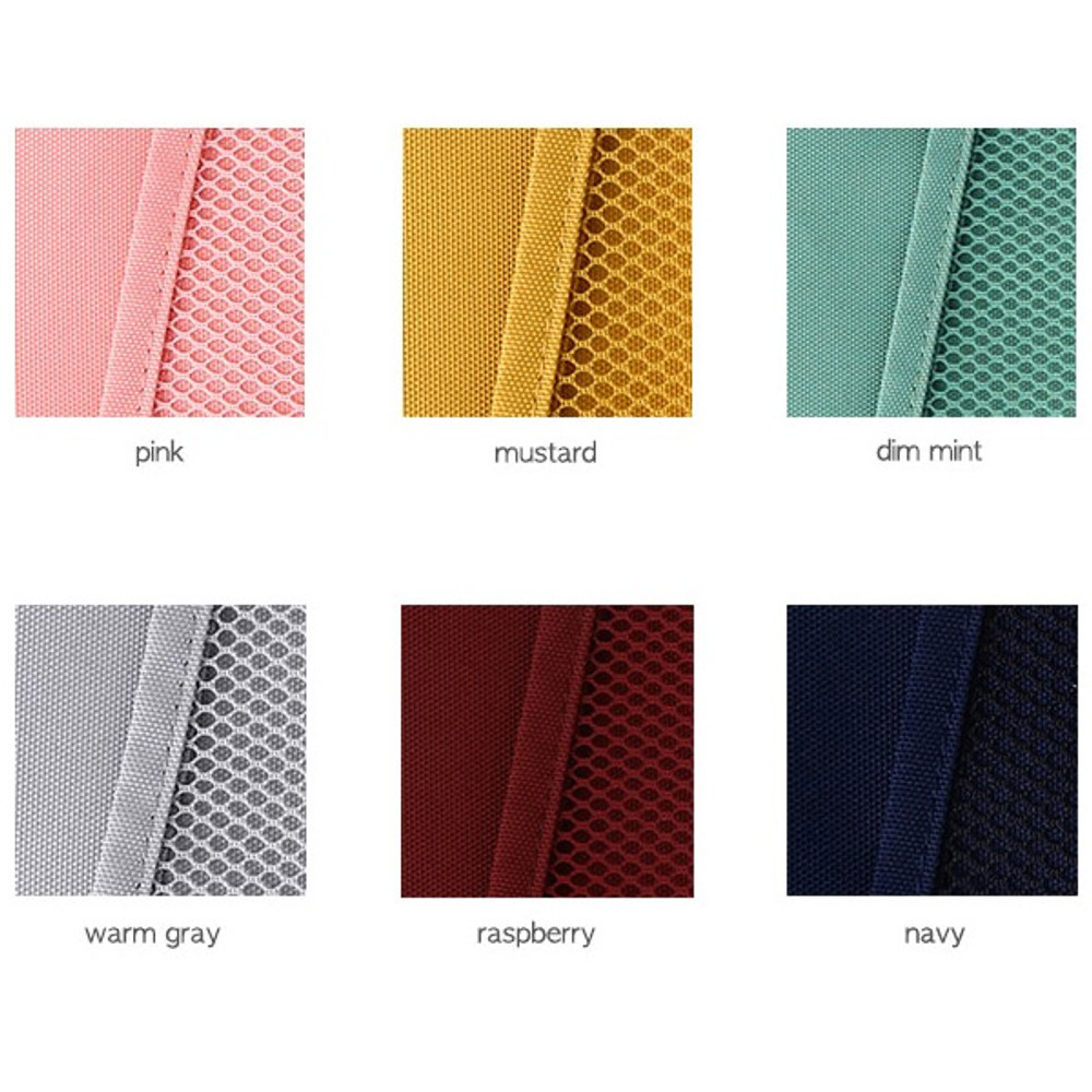 Color - Livework A low hill basic mesh pocket file pouch ver2