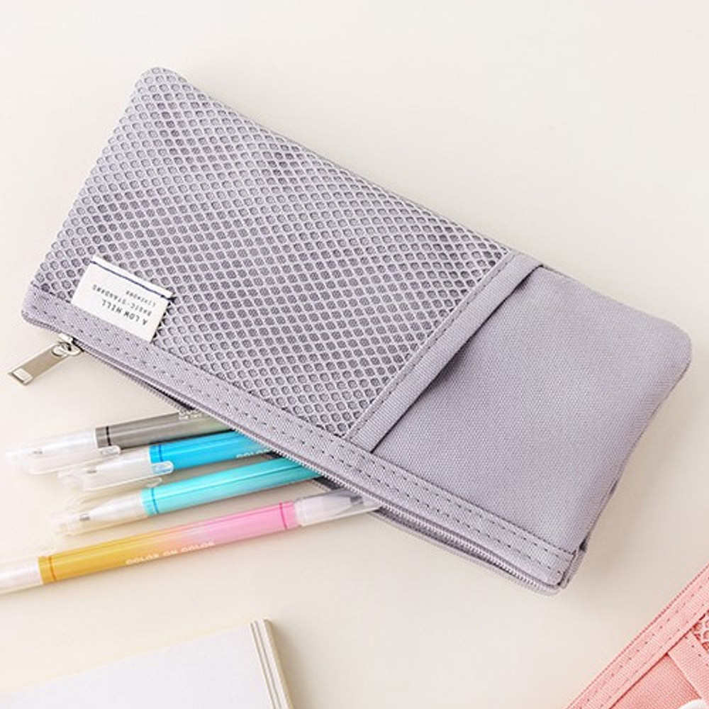 Warm gray -  Livework A low hill basic pocket pencil case ver2