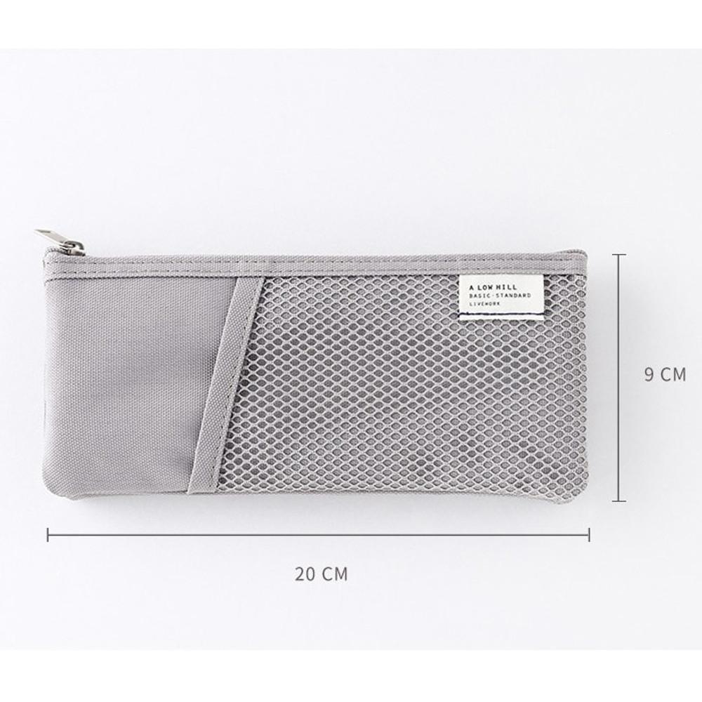 Size - Livework A low hill basic pocket pencil case ver2