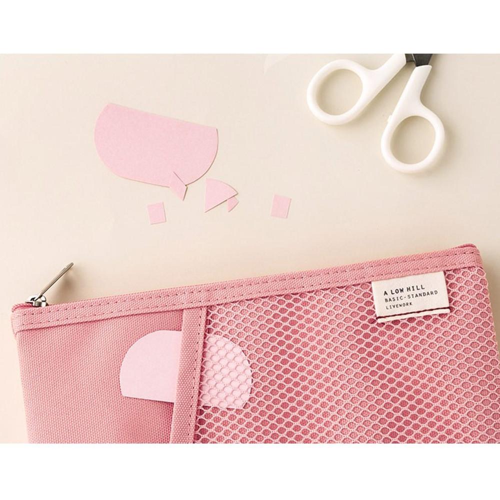 Pink - Livework A low hill basic pocket pencil case ver2