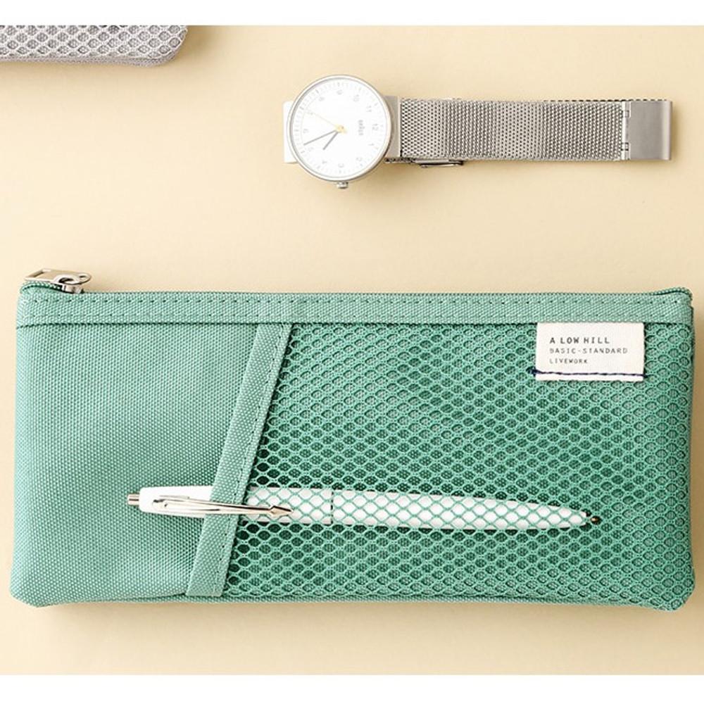 Dim mint - Livework A low hill basic pocket pencil case ver2