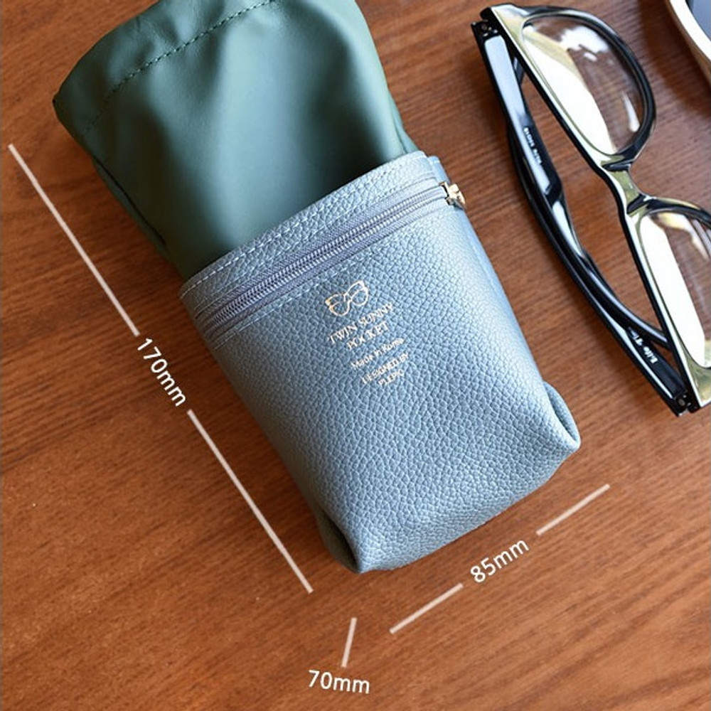 Size of Sunny twin glasses pocket drawstring pouch