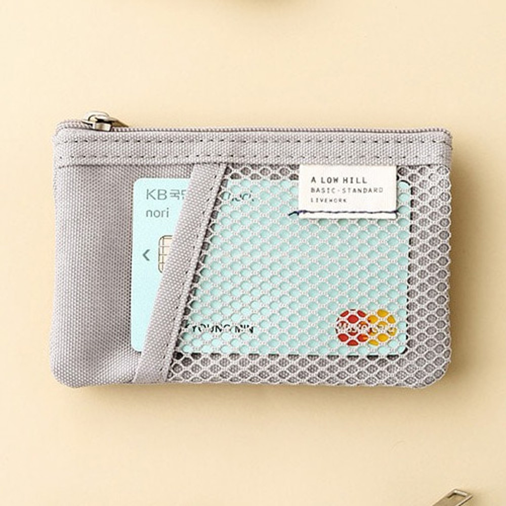 Livework A low hill basic mesh pocket small pouch ver2