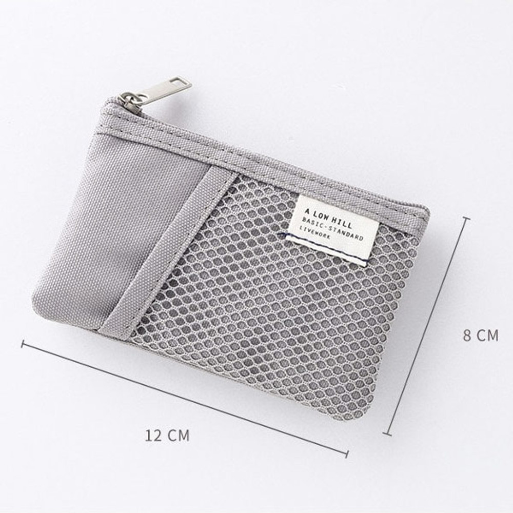 Size - Livework A low hill basic mesh pocket small pouch ver2