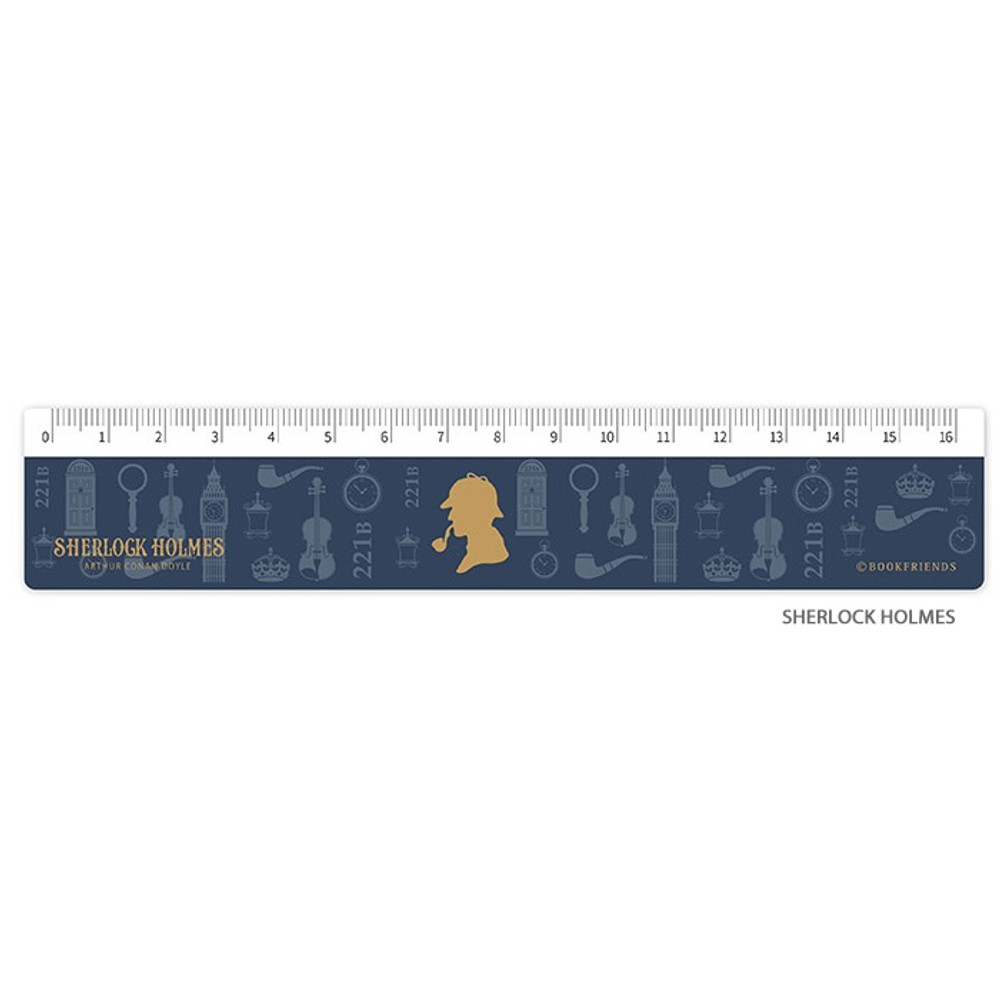 Sherlock Holmes - Bookfriends World literature 16cm plastic ruler