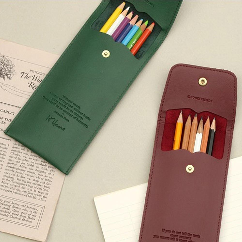 Bookfriends Bookaholic pocket pencil case