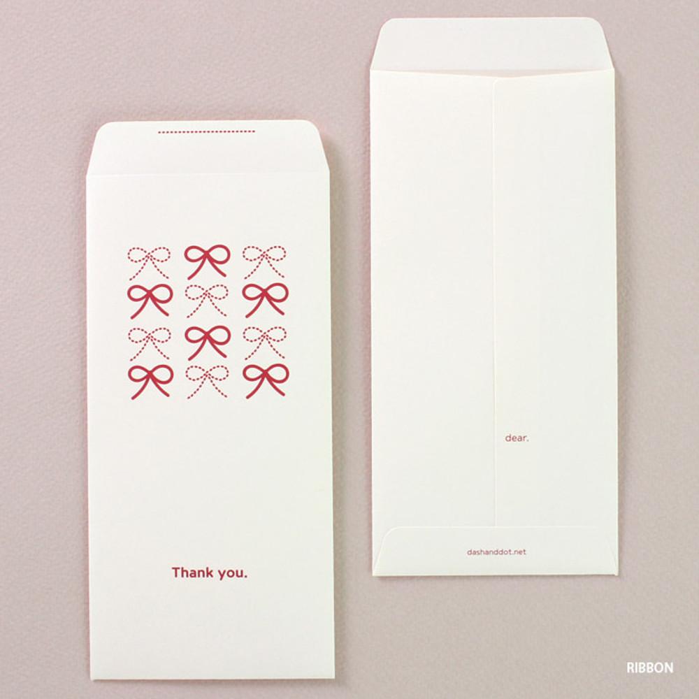 Ribbon - Blossom Ribbon thank you envelope set
