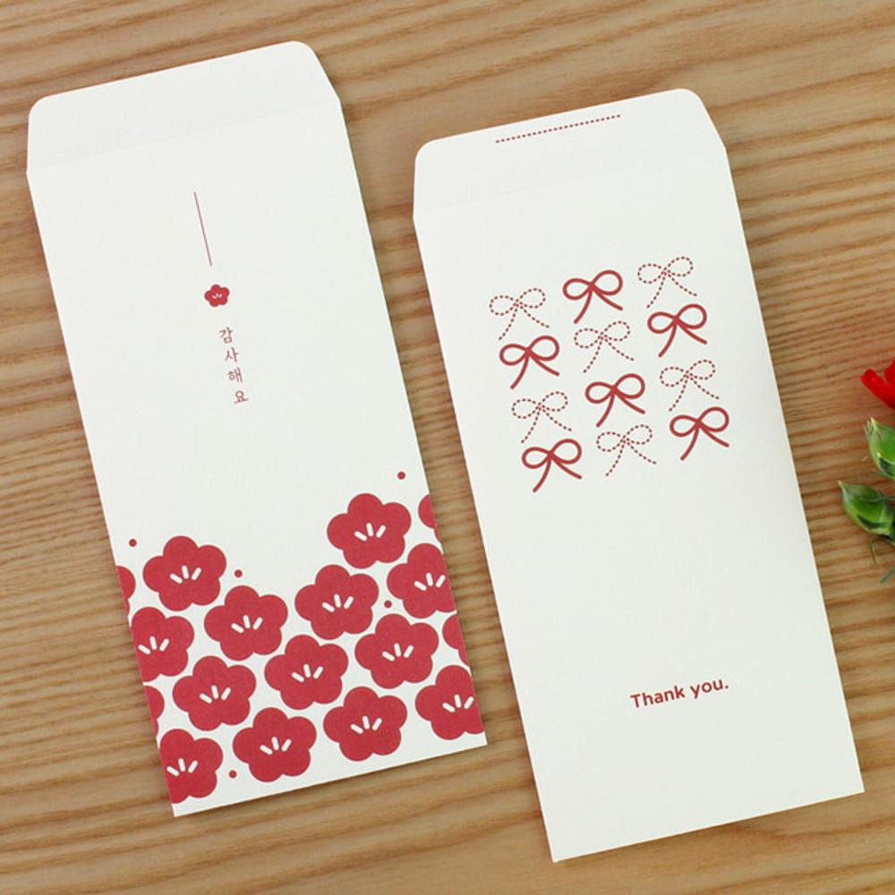Blossom Ribbon thank you envelope set