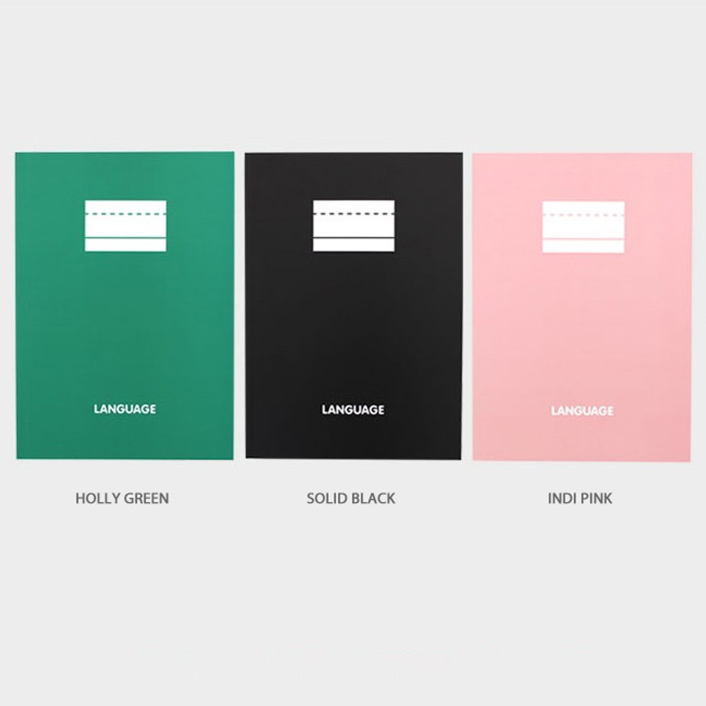 Color - 2NUL Language B5 study lined notebook ver3