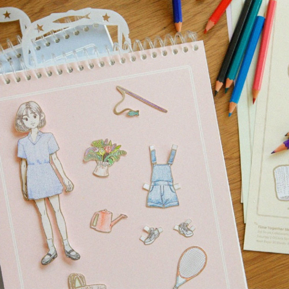 Paper doll - SOSOMOONGOO Time together large spiral drawing notebook