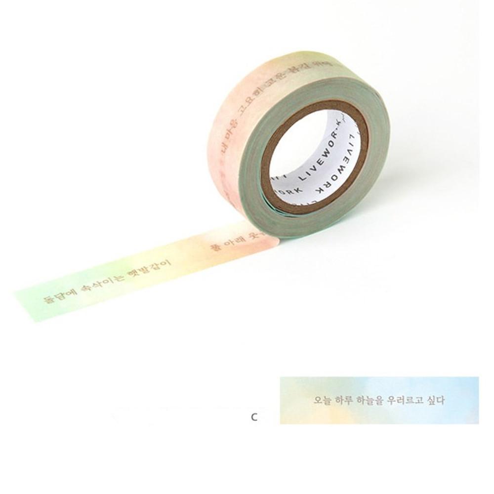 C - Livework Korean poetry single deco masking tape