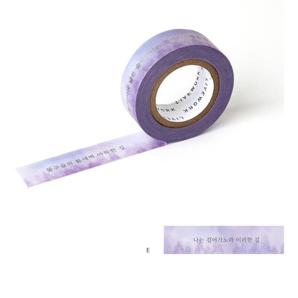 E - Livework Korean poetry single deco masking tape