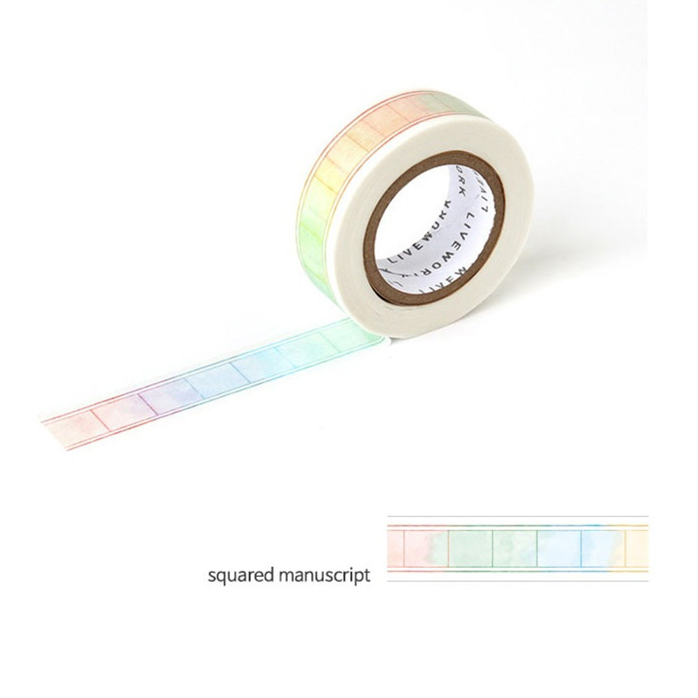Squared manuscript - Livework My universe single deco masking tape