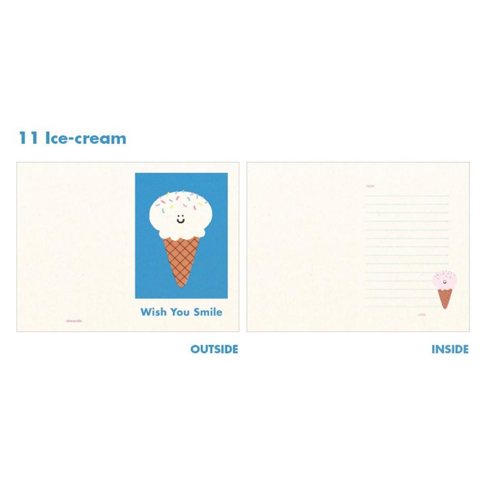 Ice-cream - Jam studio Jam birthday card with envelope ver2