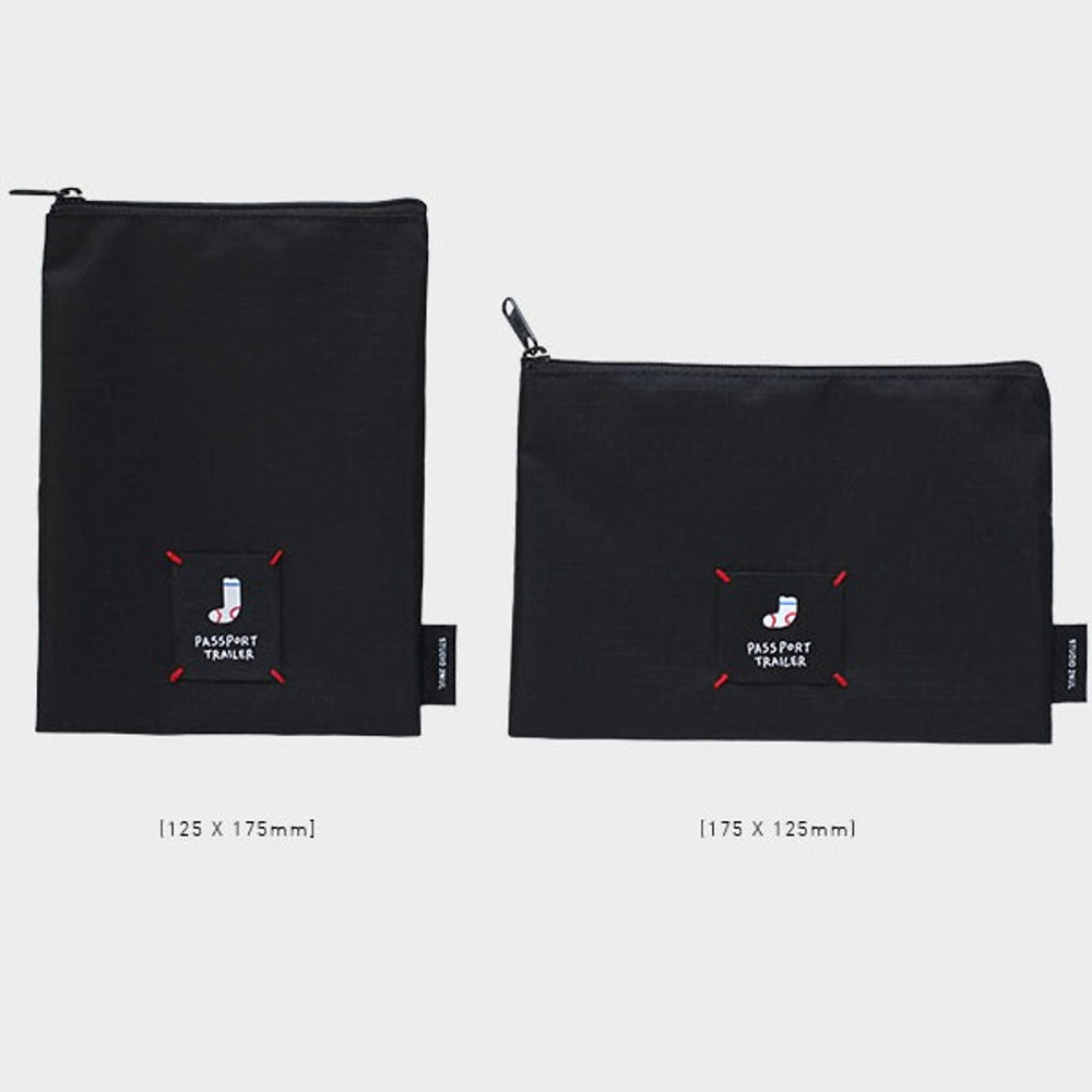 Long or short water resistant passport pouch