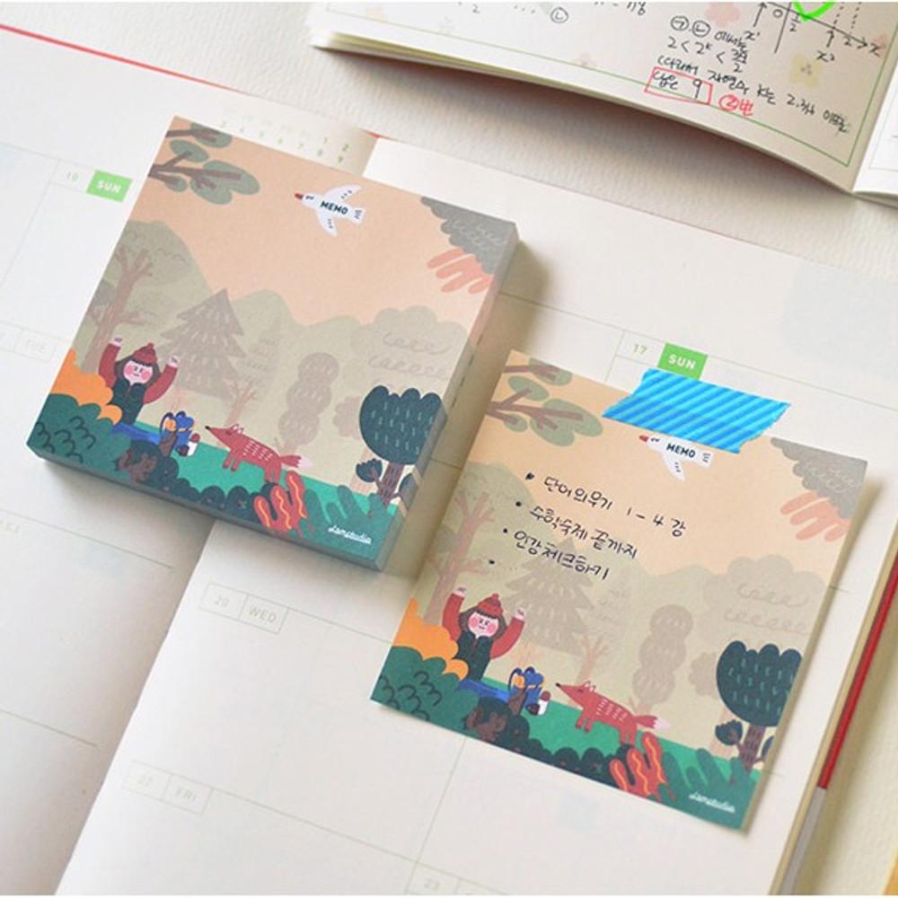 Example of use - Jam studio Barobaro memo pad