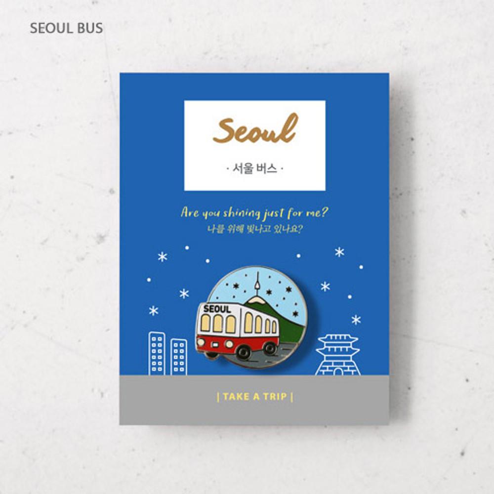 Seoul bus - gyou Take a trip Seoul badge