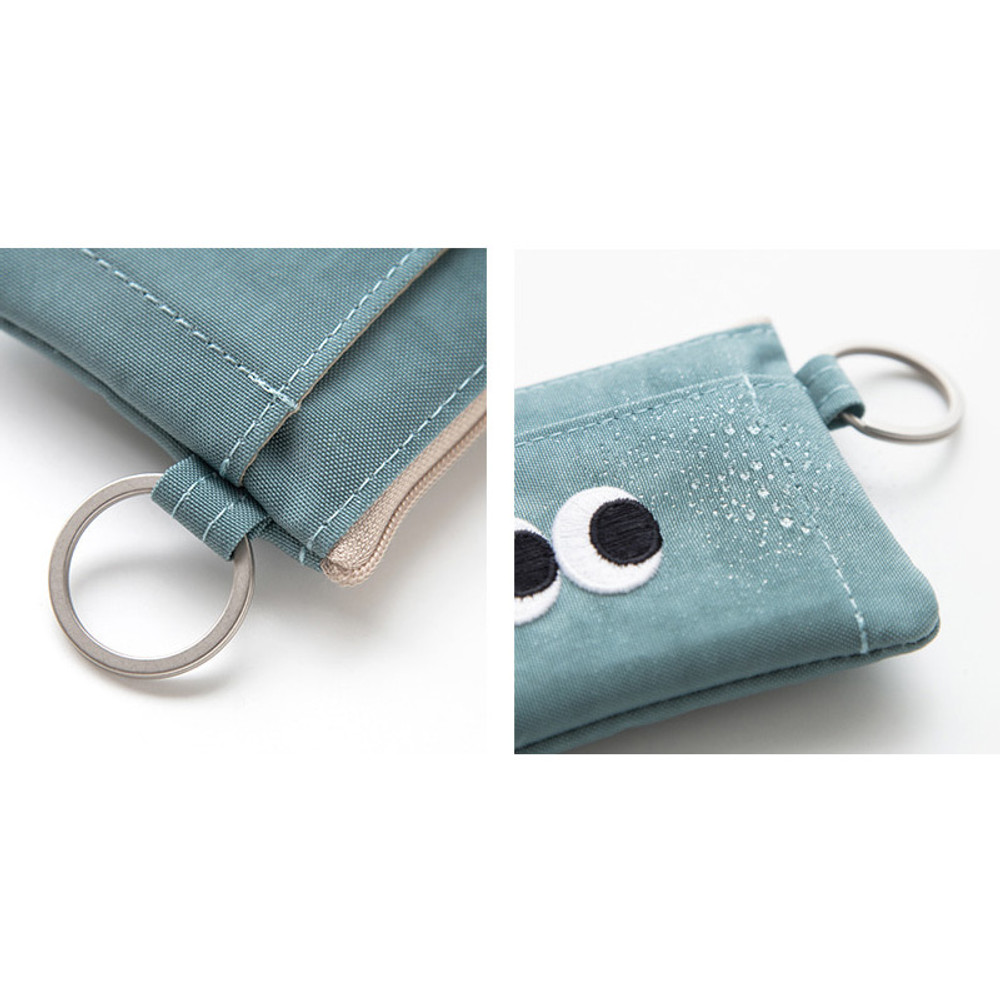 Water resistance - Som Som stitching card case with key ring ver2
