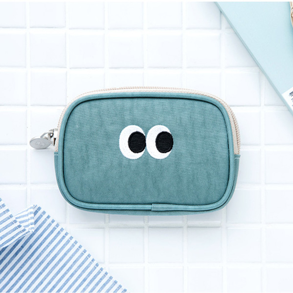 Sky blue - Livework Som Som stitching card case pouch wallet ver2