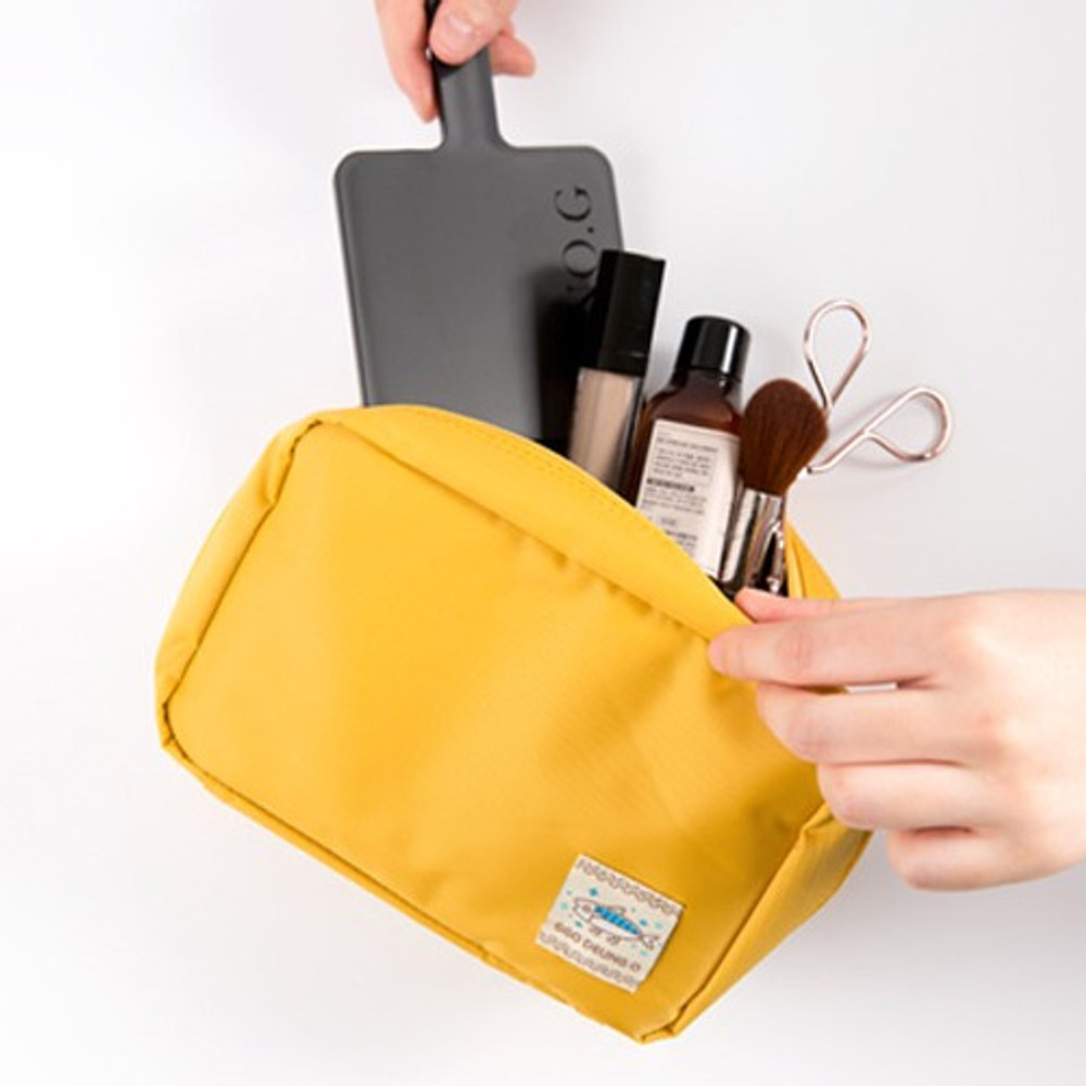 Mustard - Ggo deung o beauty cosmetic makeup pouch