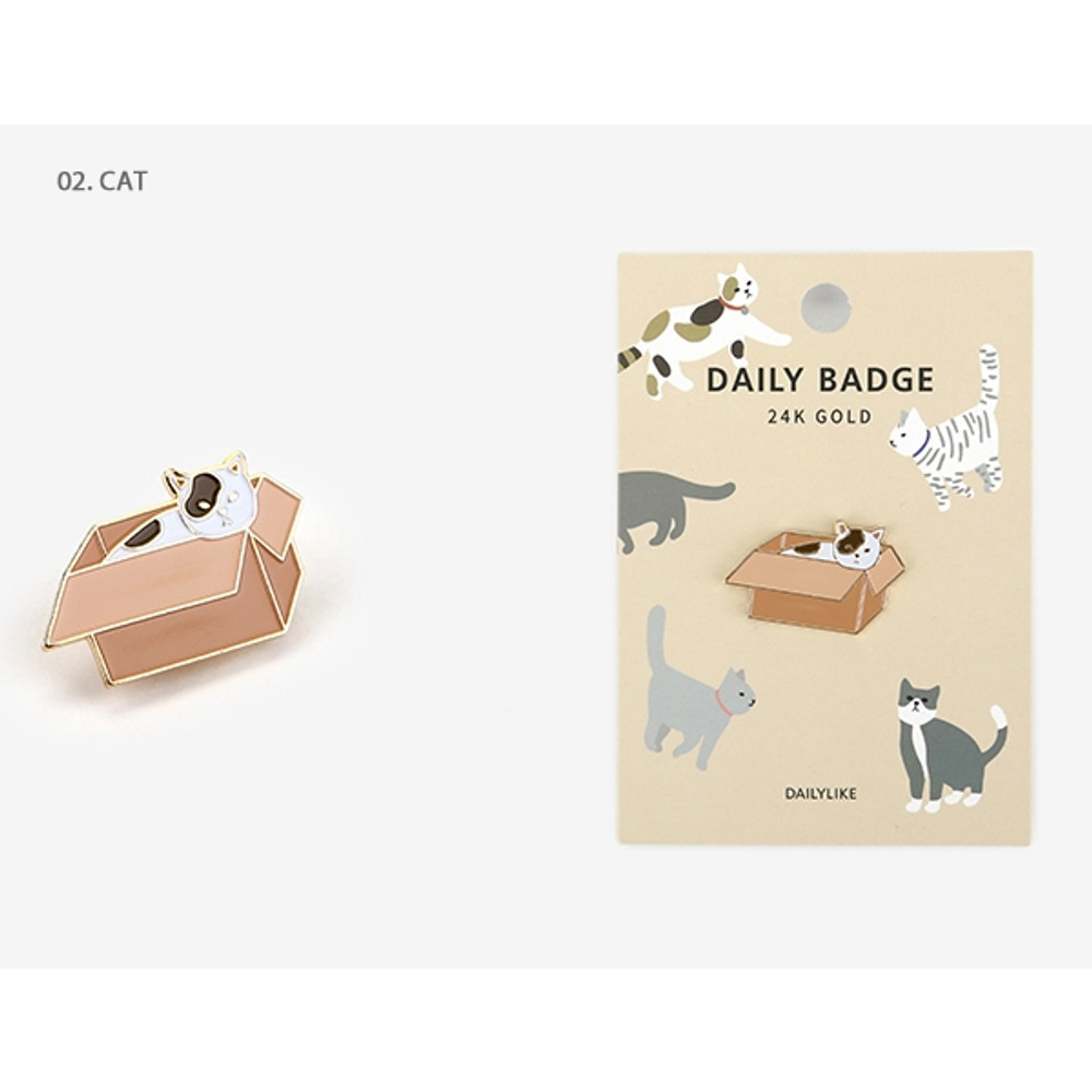 02 Cat - Dailylike Daily 24k gold plated badge